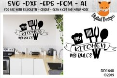 My Kitchen My Rules SVG Product Image 1