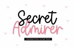 Web Font Secret Admirer - Handwritten Script Font Product Image 1