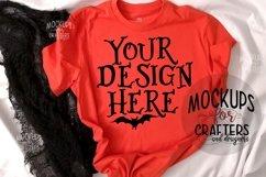 Halloween, Orange T-Shirt Mock-Up Product Image 1