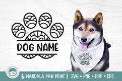 Paw Print Mandala SVG Cut Files Product Image 3
