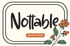 Nottable - Handrawn Font Product Image 1