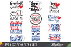 Baseball SVG Bundle, 30 Designs, DXF PNG EPS Cutting Files Product Image 3