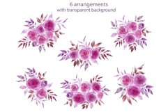 Watercolor pink flowers Product Image 6