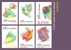 Feel fruit - feel good Fresh hand drawn summer pattern set. Product Image 6