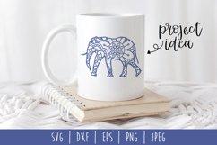 Elephant Mandala Zentangle Bundle Set of 4 - SVG Product Image 3