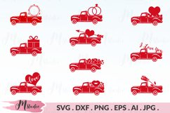 Valentines Truck svg Product Image 1