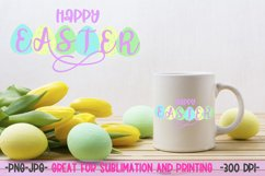 Happy Easter sublimation design PNG Product Image 1