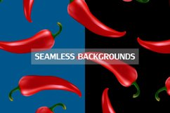 Chilli pepper - vector set . Product Image 4