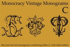 Monocracy Vintage Monograms Pack ABCD Product Image 2