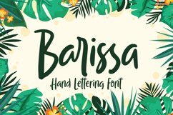 Barissa - Hand Lettering Font Product Image 1