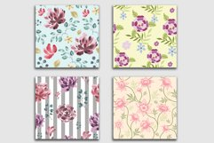 10 Floral Seamless Patterns Collection Product Image 9