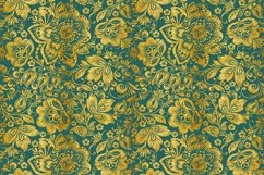 Floral gold seamless pattern. Hohloma. Product Image 6