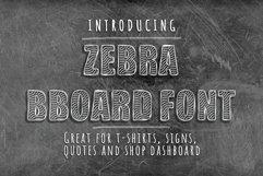 Zebra BBoard - Decorative Font Product Image 1