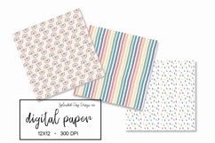 Watercolor rainbow seamless patterns Product Image 2