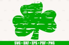 Distressed Shamrock SVG files for Cricut, Distressed Clover Product Image 1