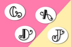 Intially - A Hand Lettered Monogram Font Product Image 5