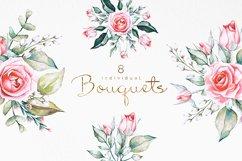 Pink Roses Watercolor Bundle Product Image 4