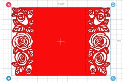Roses wedding invitation template, Svg files for cricut Product Image 4