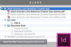 Blank Business Card InDesign Template Product Image 2