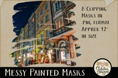Clipping Masks - Messy Painted Photo Masks & Tutorial Product Image 4