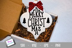 Christmas Ornament Bundle - 6 Arabesque Ornament SVG Designs Product Image 6