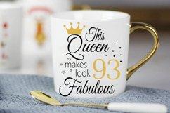Birthday Svg, 93 Birthday svg, 93 Birthday clipart, happy bi Product Image 4
