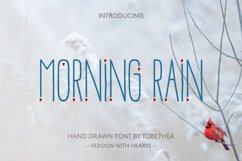 Morning Rain Font with Hearts Product Image 1