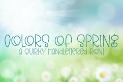 Web Font Colors of Spring - A Quirky Hand-Lettered Font Product Image 1