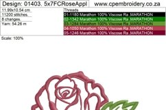 Two Roses Applique Design Product Image 6
