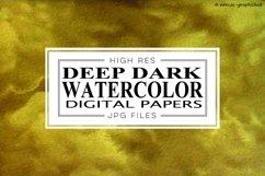 Deep Dark Watercolor Digital Papers Product Image 1