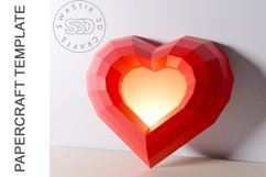 PDF Template of heart with image /Gift heart Papercraft Product Image 5