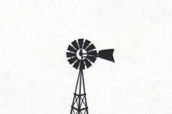 Simple Winged Farm Windmill Embroidery Design Product Image 3