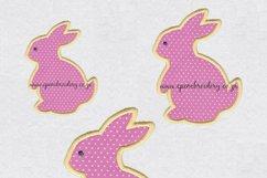 Bunny Rabbit Silhouette Applique Design Product Image 1