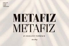Metafiz - An elegant font Product Image 1