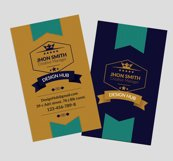 Retro Vintage Vertical Business Card Product Image 3