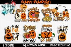 Pumpkin Sticker Bundle - Halloween Digital Stickers - SVG Product Image 1