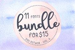 11 fonts - Bundle - vol. 6 Product Image 1