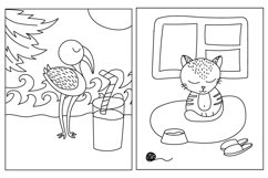 Worksheet animals and coloring book Product Image 5