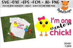Easter One Cute Chick SVG Cut File Product Image 1
