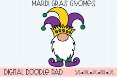 Mardi Gras Gnomes SVG Cut Files for Cricut and Silhouette Product Image 2