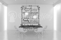 Family word collage in swirly frame, word collage Product Image 5