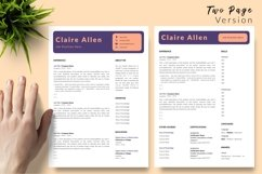 Creative Resume CV Template for Word & Pages Claire Allen Product Image 3