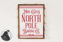 Christmas SVg, Mrs. Claus Baking Co SVG Cut File for Winter Product Image 1