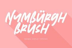 Nymburgh Brush Minimal Display Typeface Product Image 1