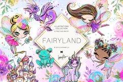 Fairy Clipart, Unicorn Dragon Frog Castle Clipart Product Image 1