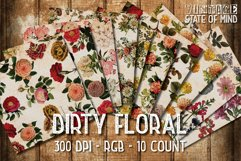 Dirty Floral Digital Papers Product Image 2