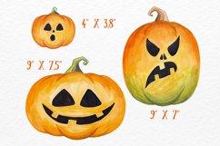 Halloween Pumpkin clipart Watercolor pumpkin set Product Image 3