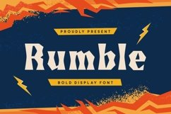 Web Font Rumble Font Product Image 1