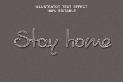 stay home text effect editable vector Product Image 1