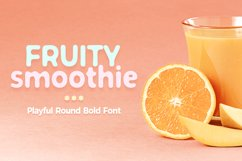 Fruity Smoothie Font Product Image 1